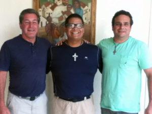 Fr. Rick Frechette, CP, Fr. Hugo Esparza-Perez and Fr. Enzo del Brocco, CP.