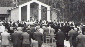 Four hundred people attended the dedication in 1953.