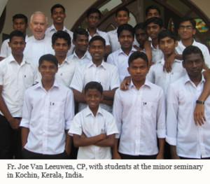 Joe Van L with Kochin Students