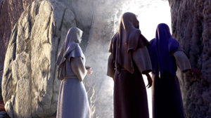 women at tomb