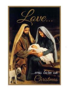3-Christmas Holy Family-front