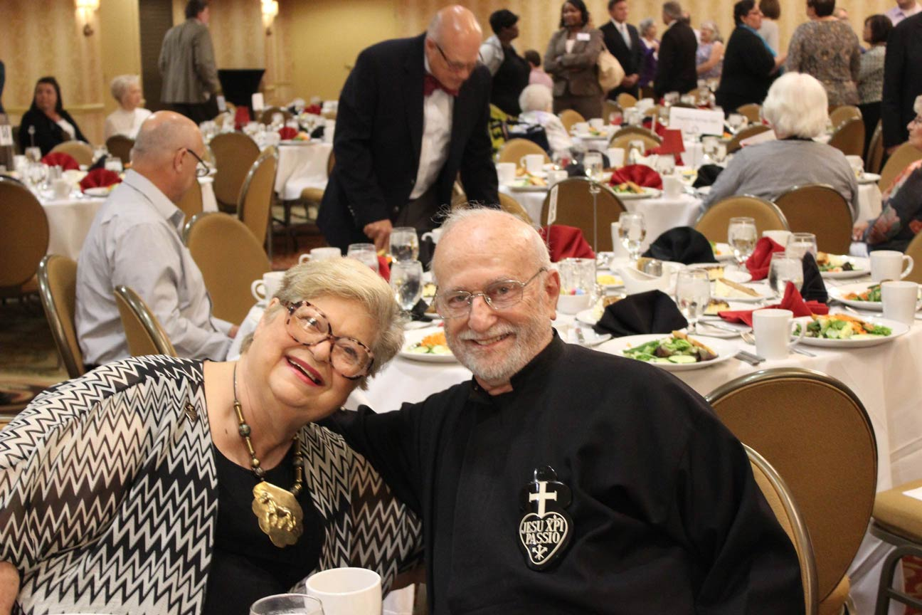 Kay Woodworth and Fr. Eric Meyer, CP.
