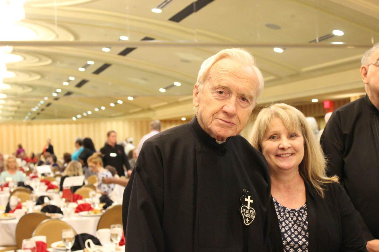 Fr. Sebastian MacDonald, CP, and Mona Roeten.