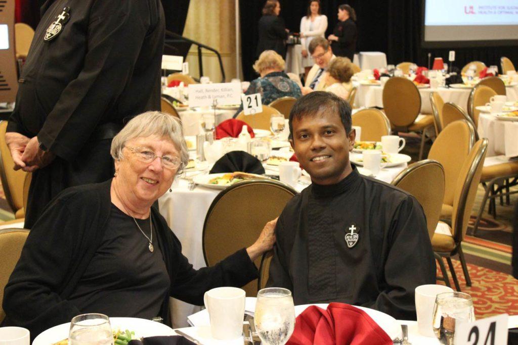 Sr. Mary Anne Burkhardt and Fr. Febin Barose, CP.