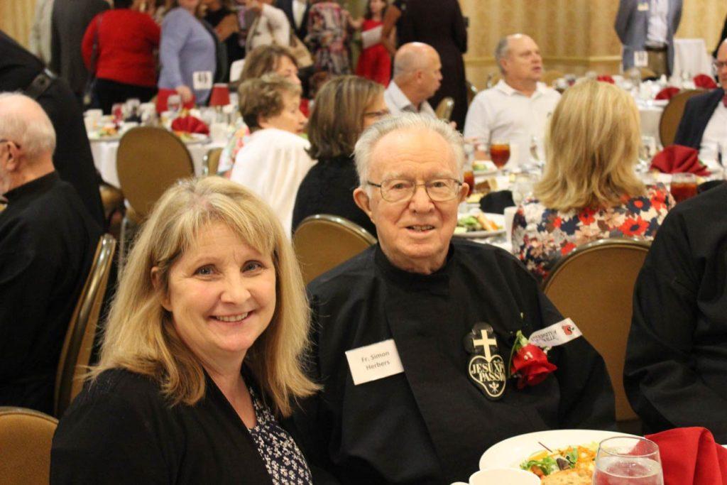 Mona Roeten and Fr. Simon Herbers, CP.