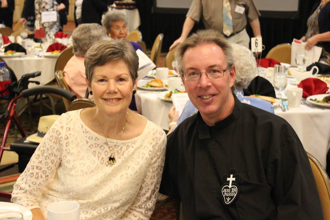 Teresa Watson and Fr. David Colhour, CP.