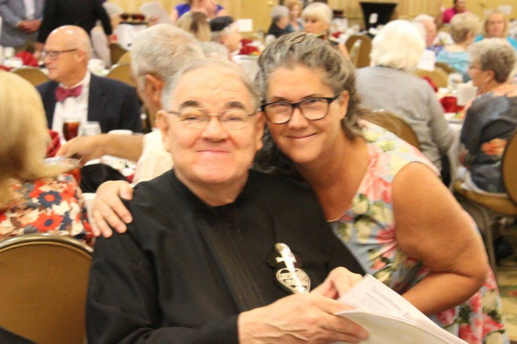 Br. John Monzyk, CP, and Eileen Kalbfleisch.