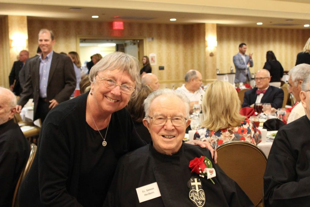 Sr. Mary Anne Burkhardt and Fr. Simon Herbers, CP.
