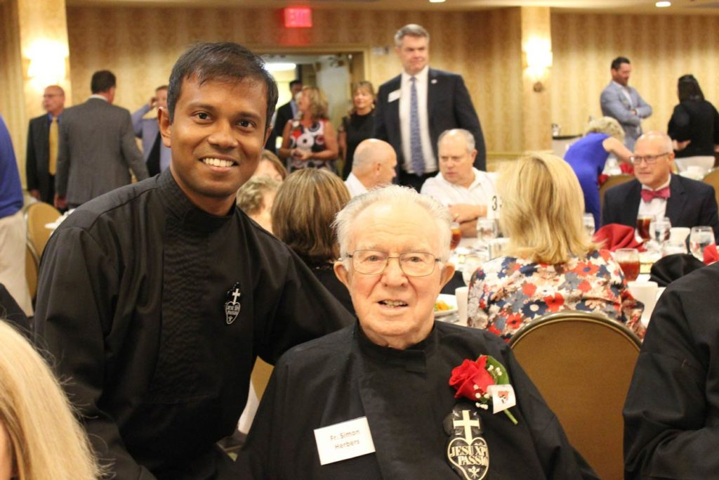 Fr. Febin Barose, CP, and Fr. Simon Herbers, CP.