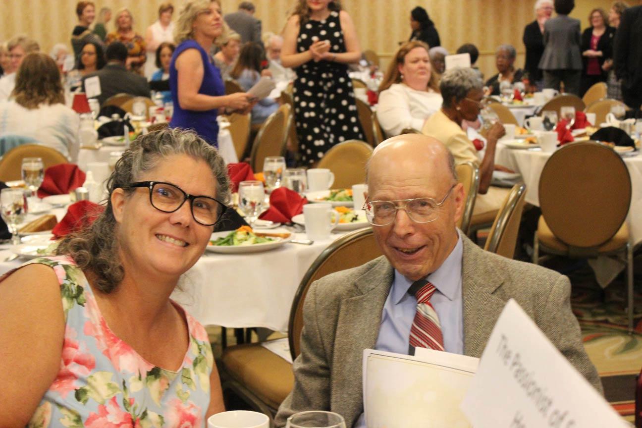 Eileen Kalbfleisch and Br. Jerry Milazzo, CP.