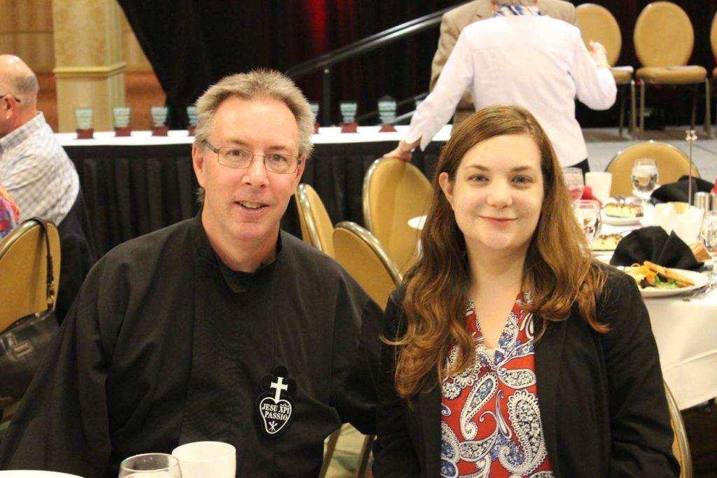 Fr. David Colhour, CP, and Michelle Rudovich.