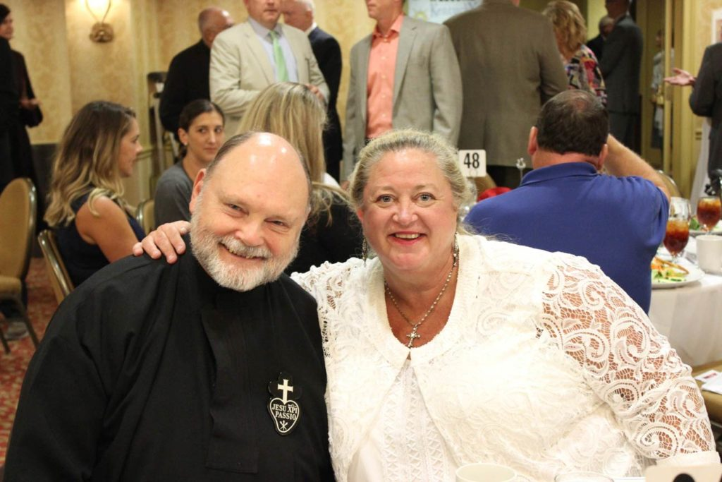 Fr. Chris Gibson, CP, and Dee Dee Lockhart.