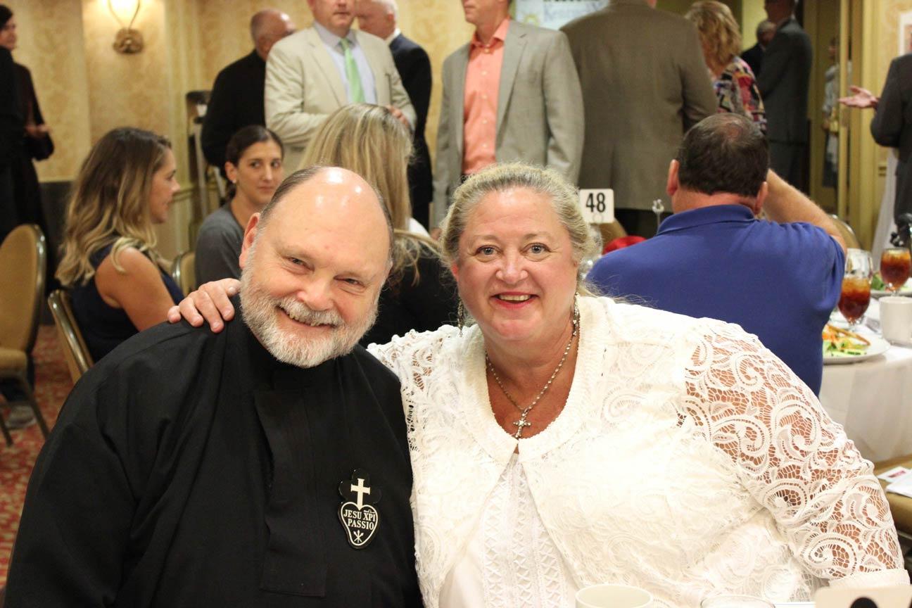 Fr. Chris Gibson, CP, and Dee Dee Lockhart.