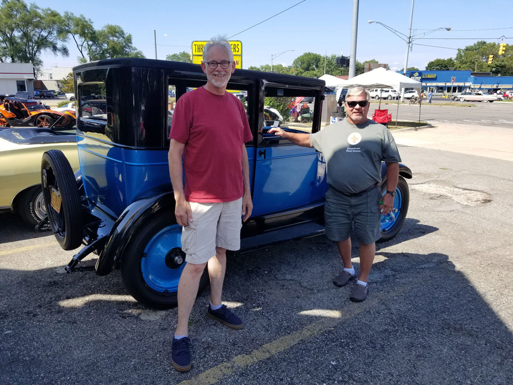 Michael Mahoney and Al Maryan checked out the 2019 Woodward Dream Cruise Saturday afternoon.