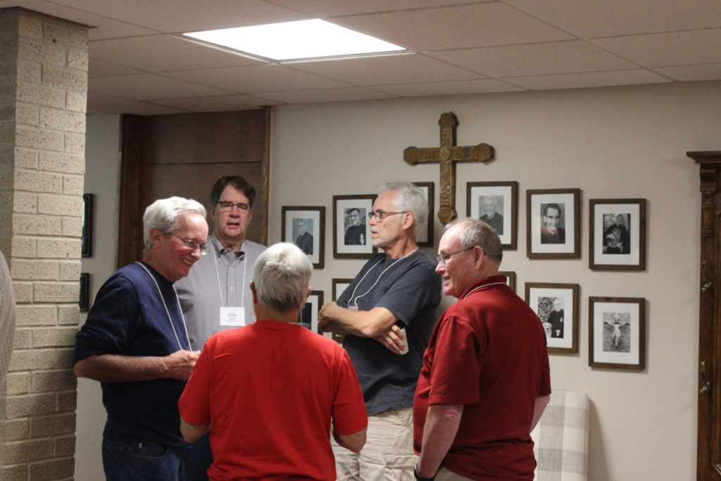 James Hinrichs, Mike Moll, Michael Mahoney, Ed Cronin and Fr. Bob Knight