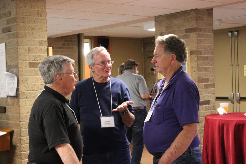 Fr. John Schork, CP, James Hinrichs and Randy Drean.