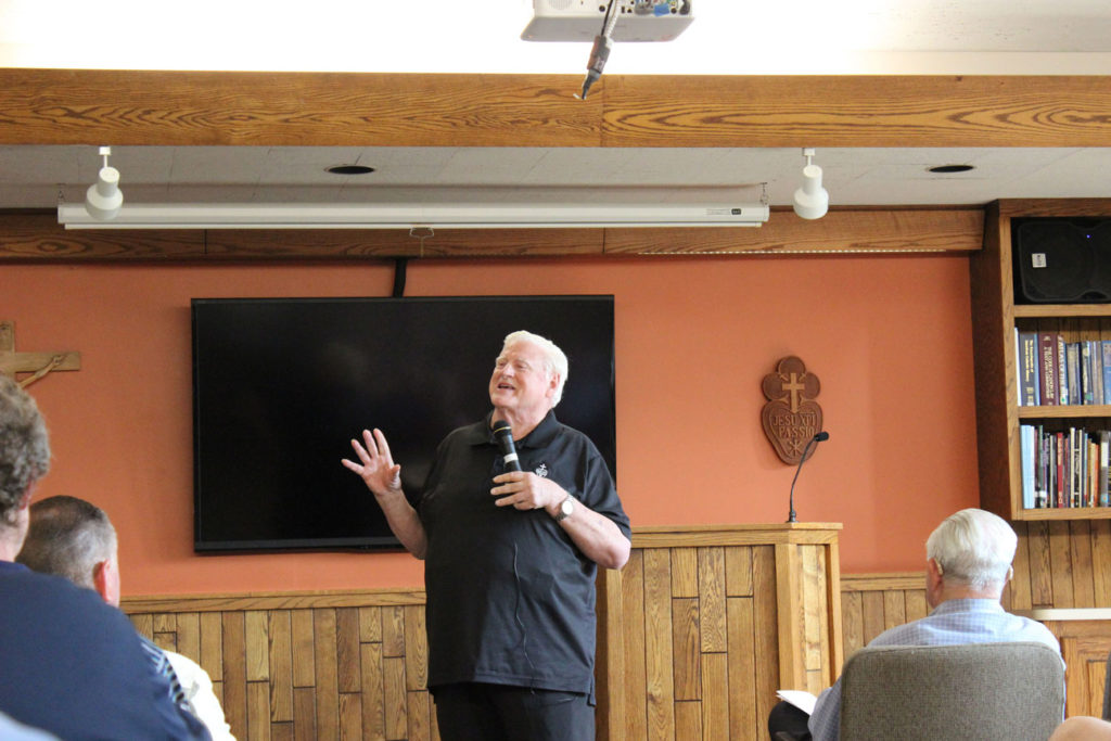 During the first workshop session, Fr. Bob Weiss, CP, discussed the Passionist charism and spirituality.