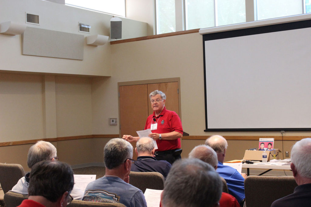 The second workshop session, Fr. John Schork, CP, gave an informative presentation on the state of the Passionist Family of Holy Cross Province at present and looking to the future.