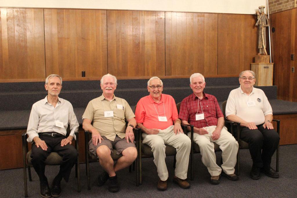 (l-r): Phillip Bujnowski, Tom Mugavin, Dave Stryker, Bob Yeargin and Br. John Monzyk, CP.
