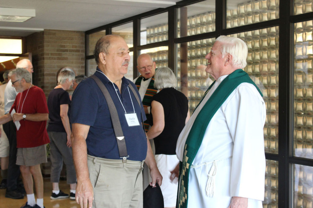 Charlie Phillips and Fr. Bob Weiss, CP.