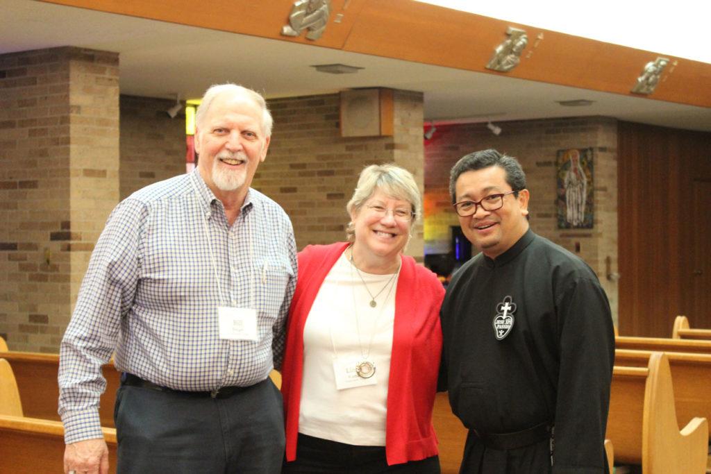 Bill Berger, Linda Kienzle and Fr. Enno Dango, CP.