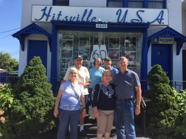 Pat and Jim Bueter, Kathy and Ray Butkiewicz, and Susan and Don Noltemeyer toured the Motown Museum.